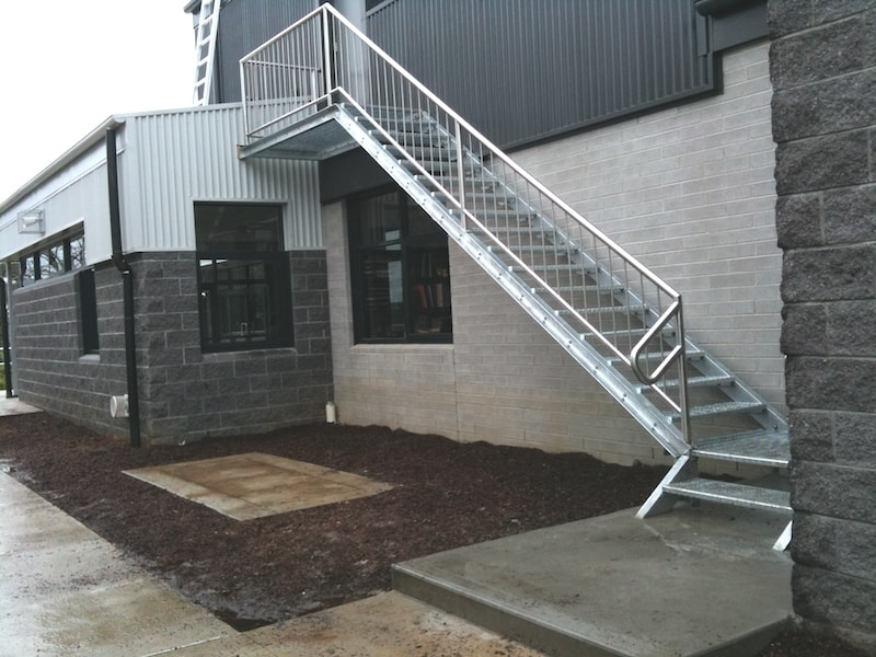 Outdoor steel balustrade melbourne