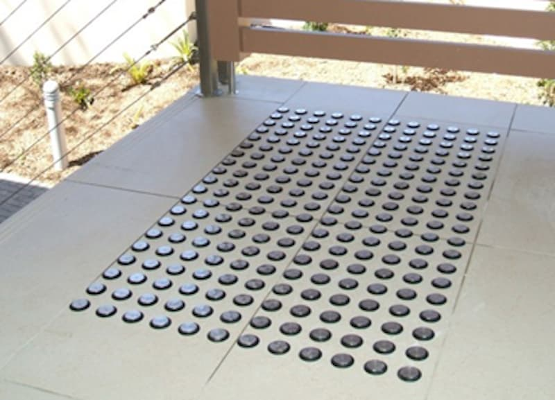 Example of tactile indicators designed by Melbourne based Stainless Steel Specialists